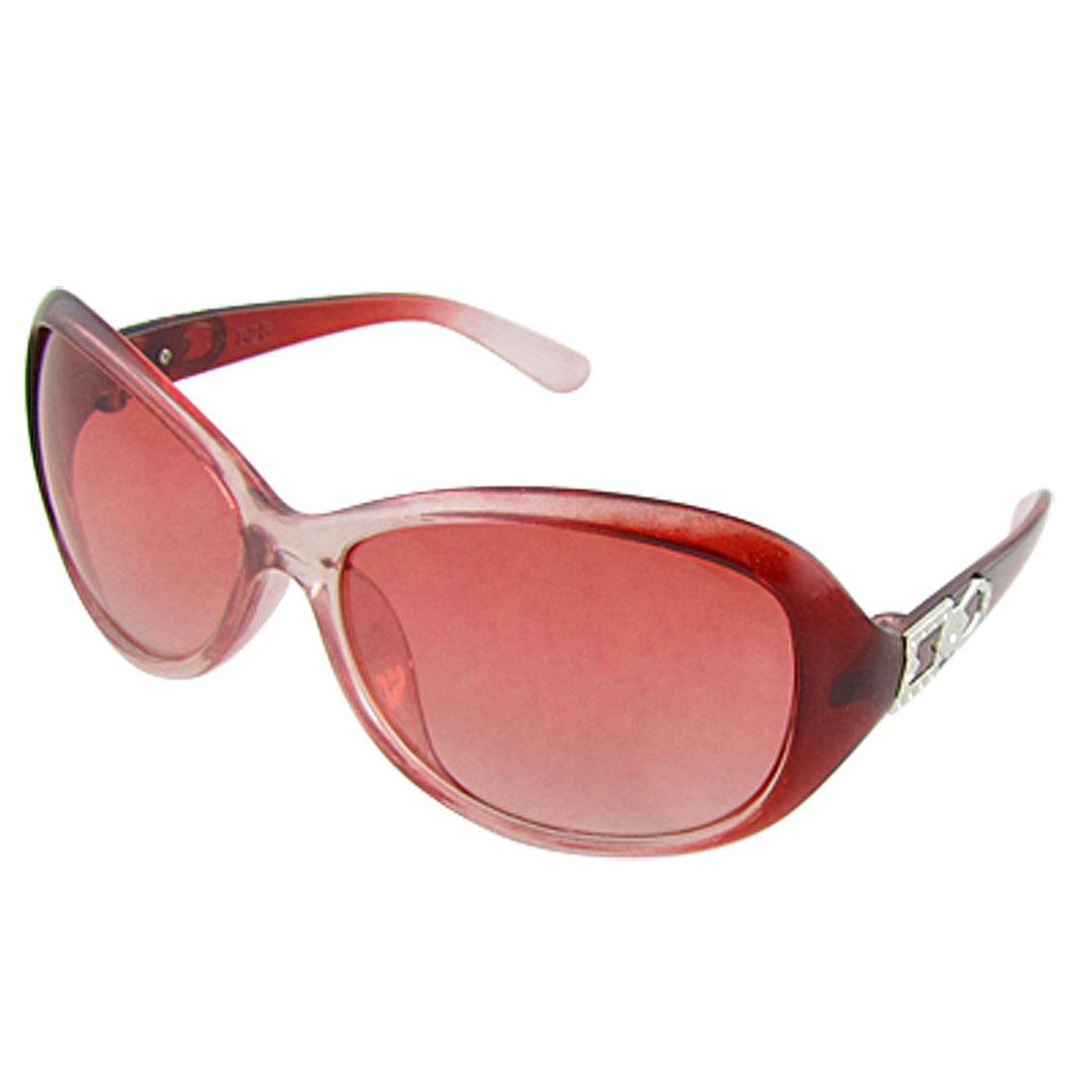 Oversized Lens Clear Plastic Full Rim Frame Ladies Sunglasses