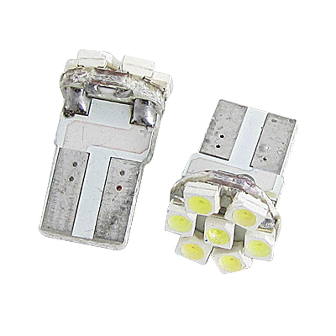 2 Pcs T10 W5W 7 1210 SMD LED White Turn Signal Side Light Bulb