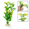 Aquarium Emulational Plastic Plant Green w Ceramic Base