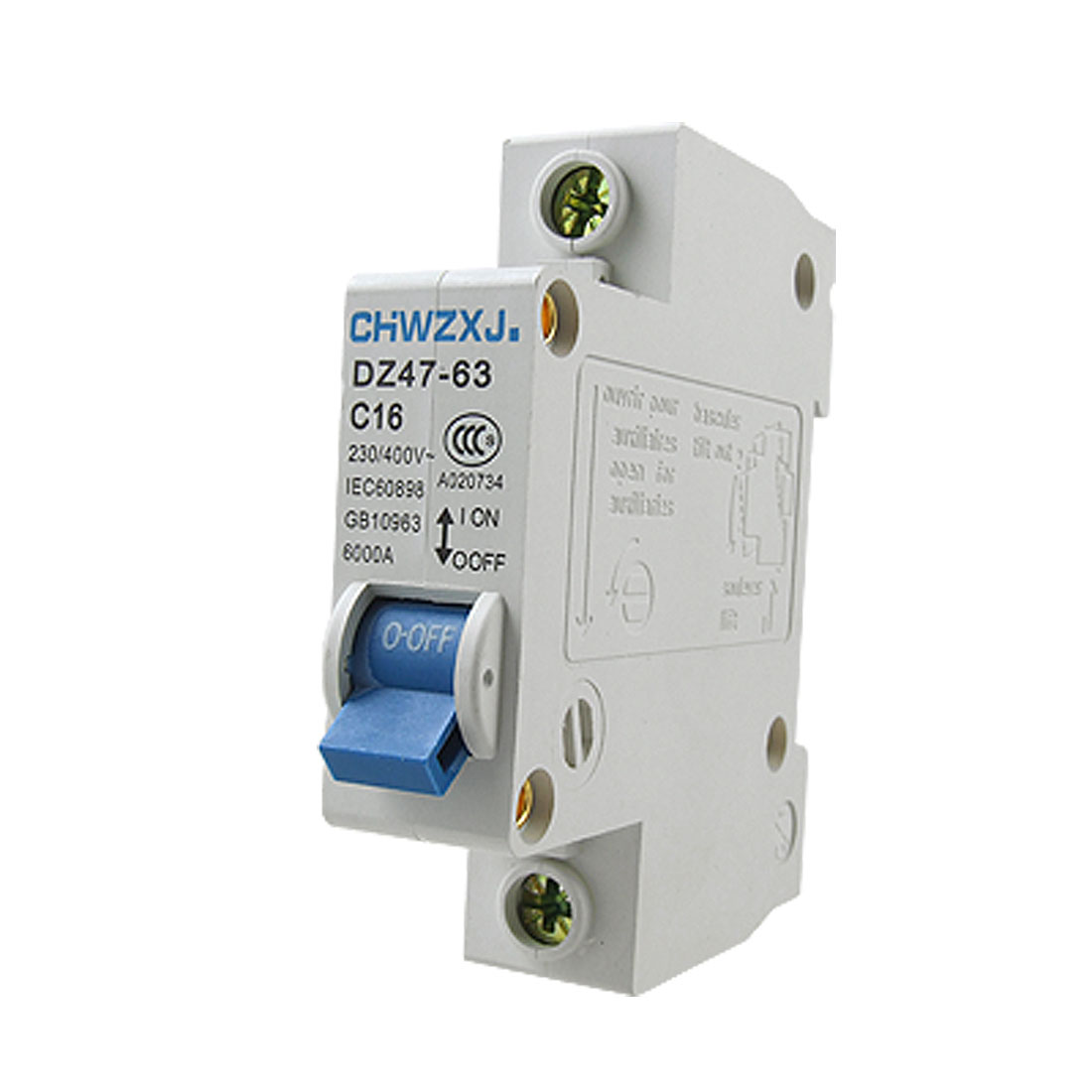 Single Pole Mini Electrical Circuit Breaker 230-400V