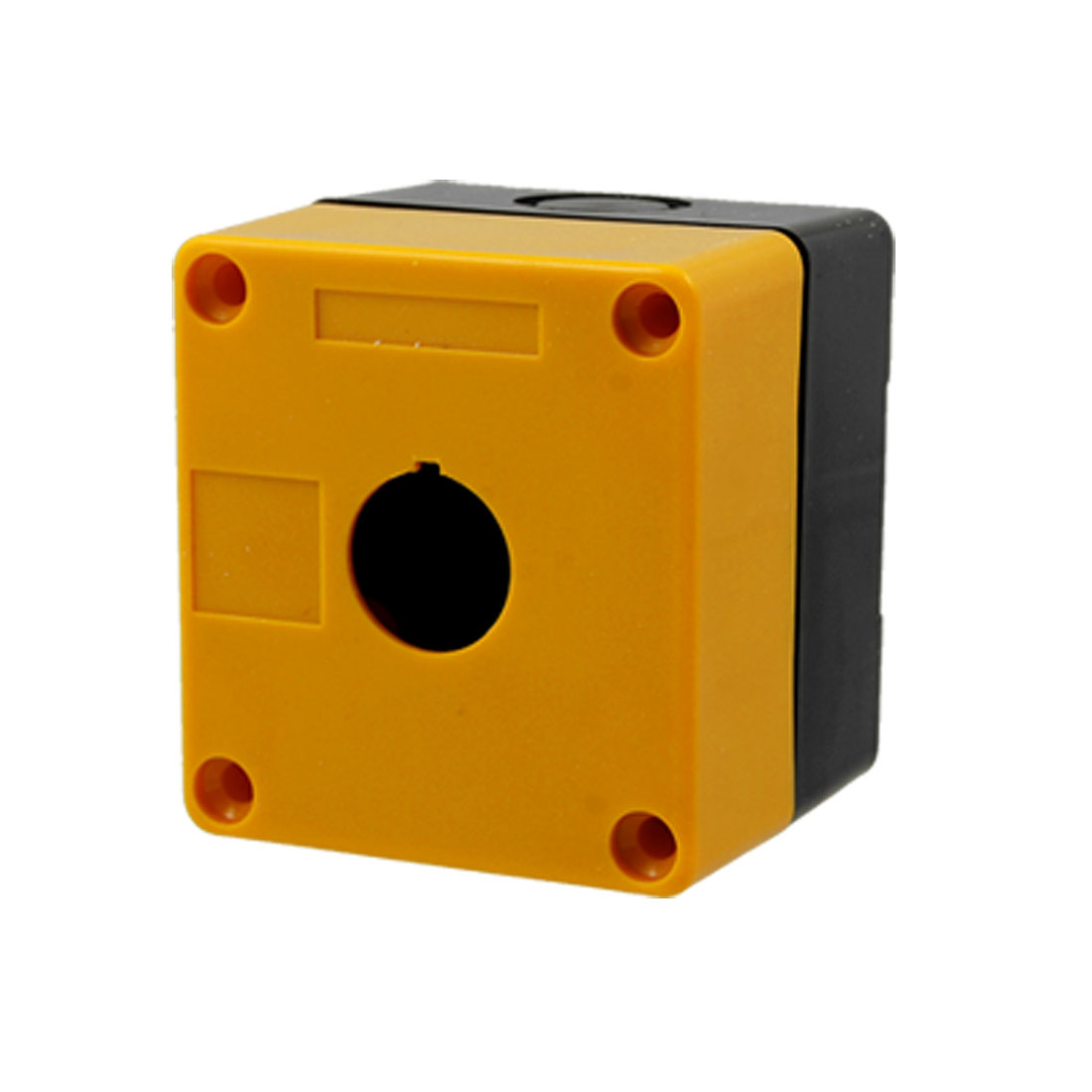 Plastic Yellow Black 1 Push Button Control Station Switch Box