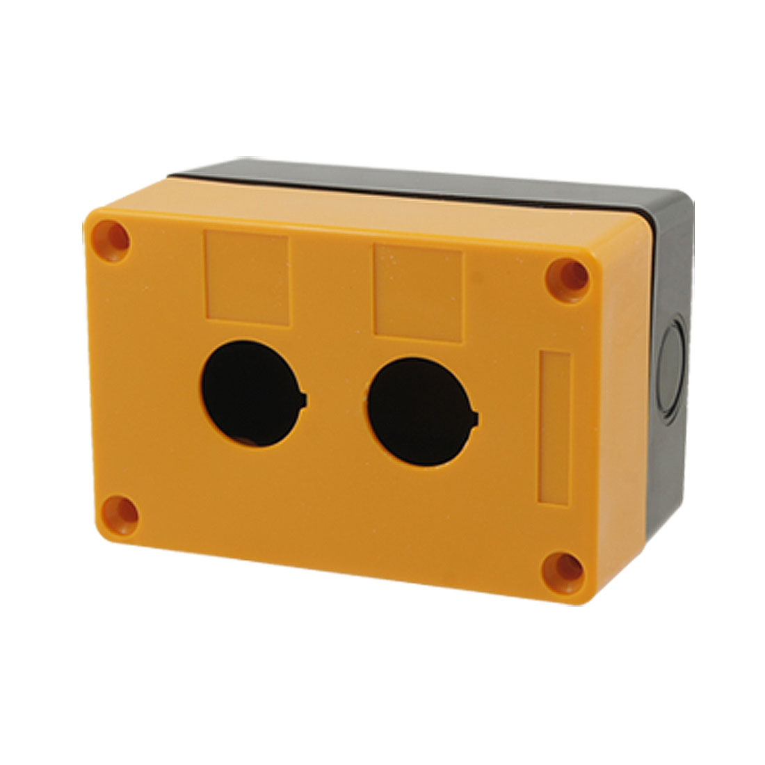 Control Station Yellow Black 2 Pushbutton Switch Box Case