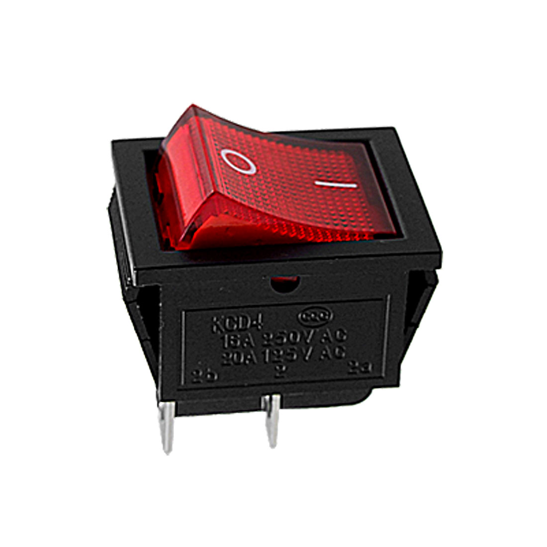 Red Light DPST ON/OFF Snap in Boat Rocker Switch 15A/250V 20A/125V AC 29x21mm