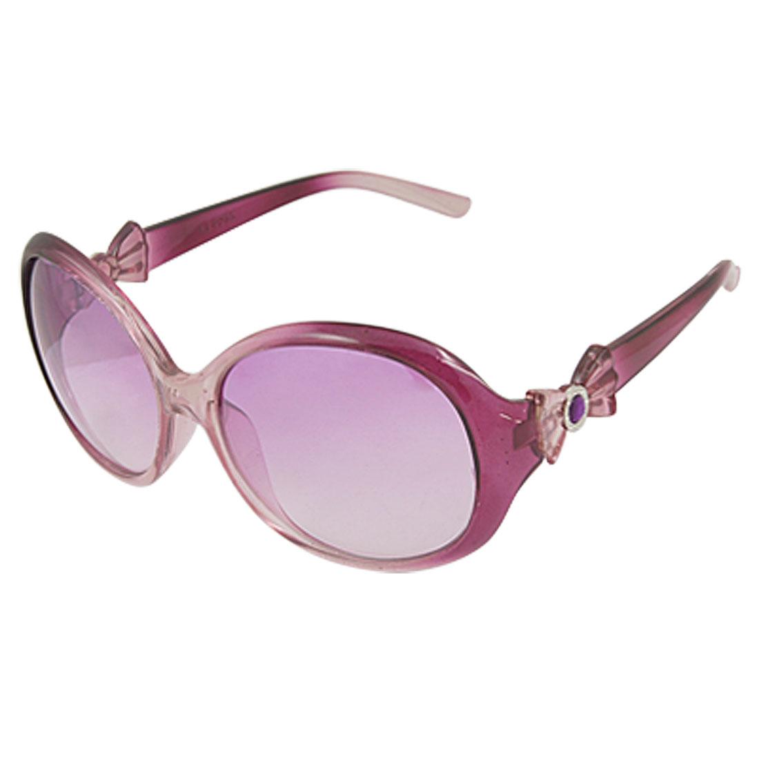 Big Oval Lens Plastic Full Frame Sunglasses for Ladies
