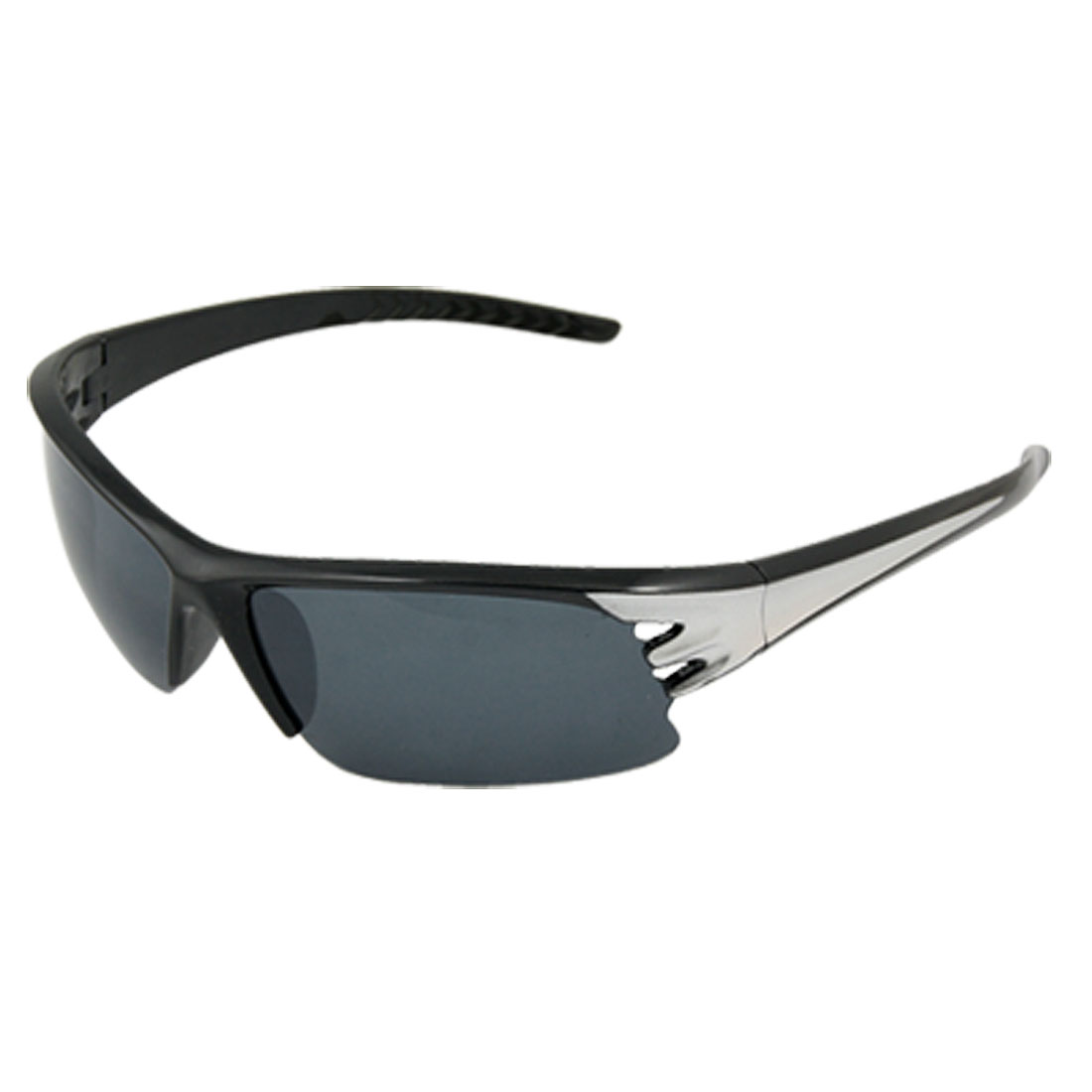 Unisex Plastic Sports Style Hollow Out Sunglasses Black