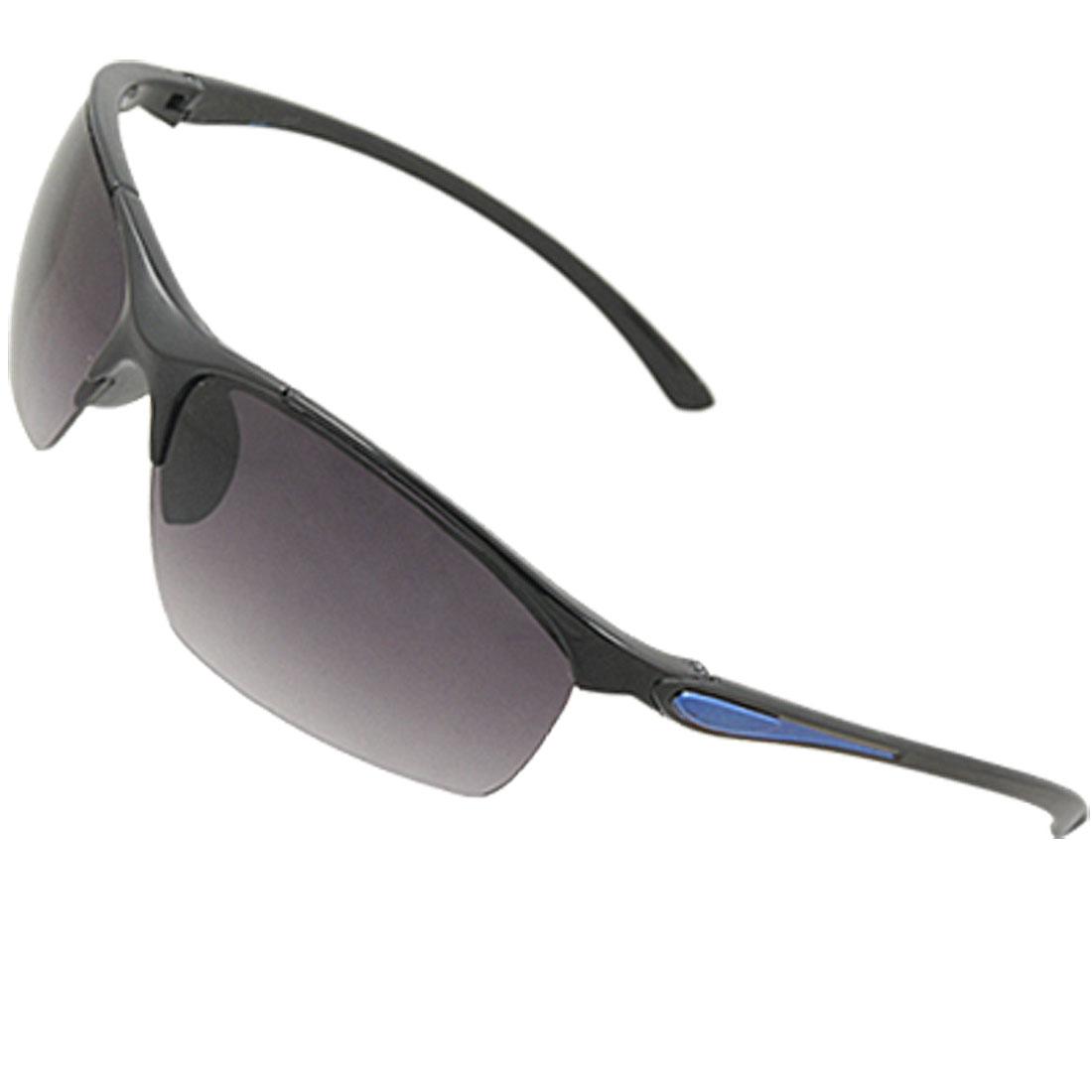 Unisex Plastic Slim Arm Eyeglasses Half Rim Sunglasses