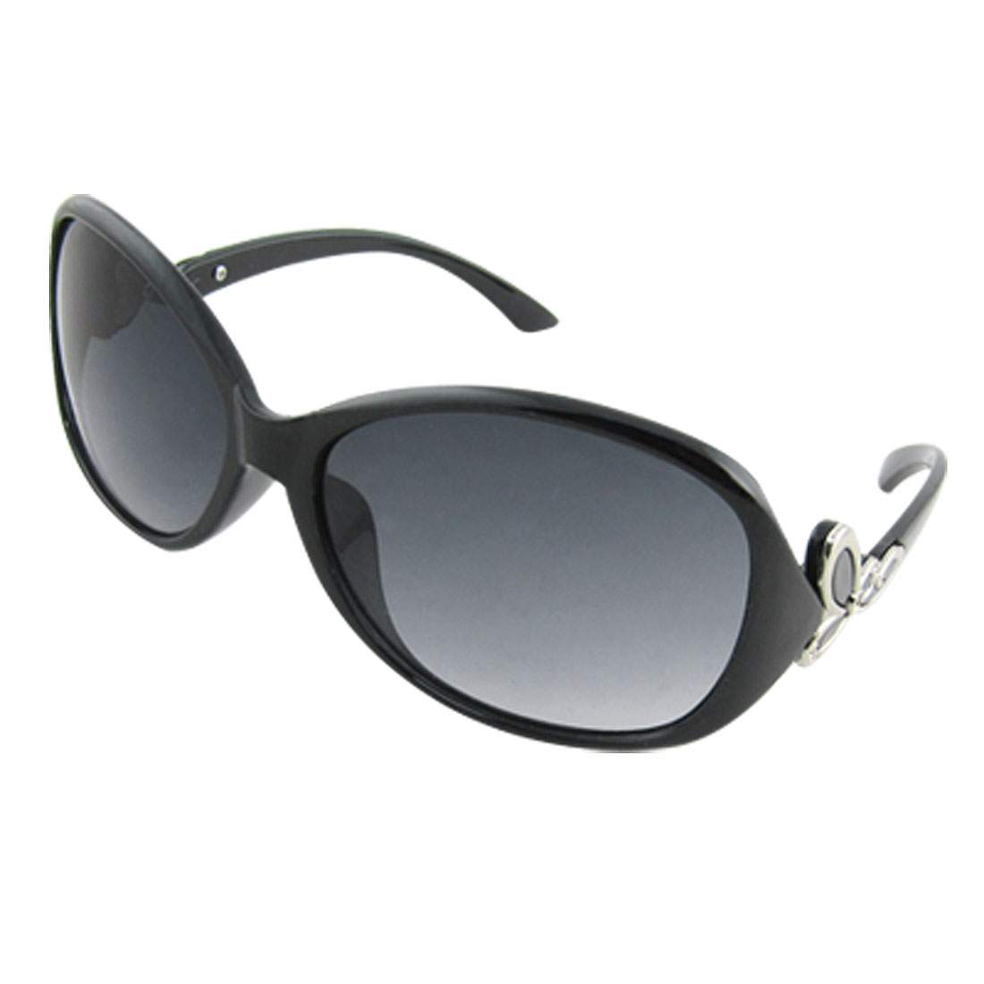 Cool Black Full Rim Oval Lens Women Sunglasses