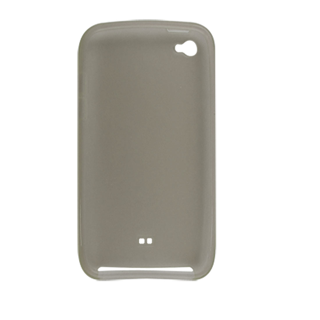 Soft Plastic Light Gray Cover Case for iPod Touch 4G