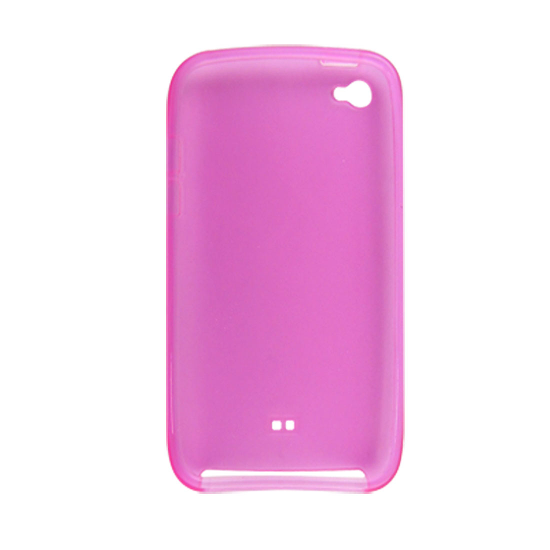 Fuchsia Soft Plastic Cover Case for iPod Touch 4G