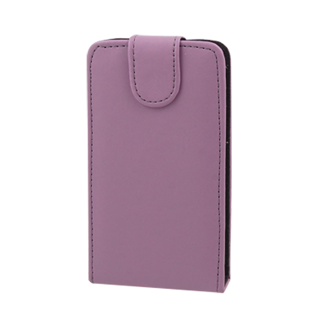 Vertical Magnetic Flip Purple Faux Leather Pouch for HTC G7 HD