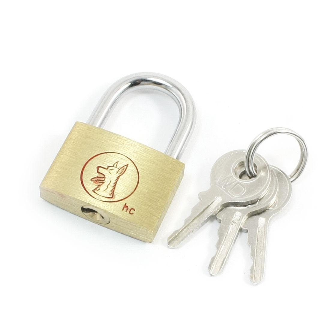 3 Keys + Door Luggage Security Lock Dual Tone Padlock