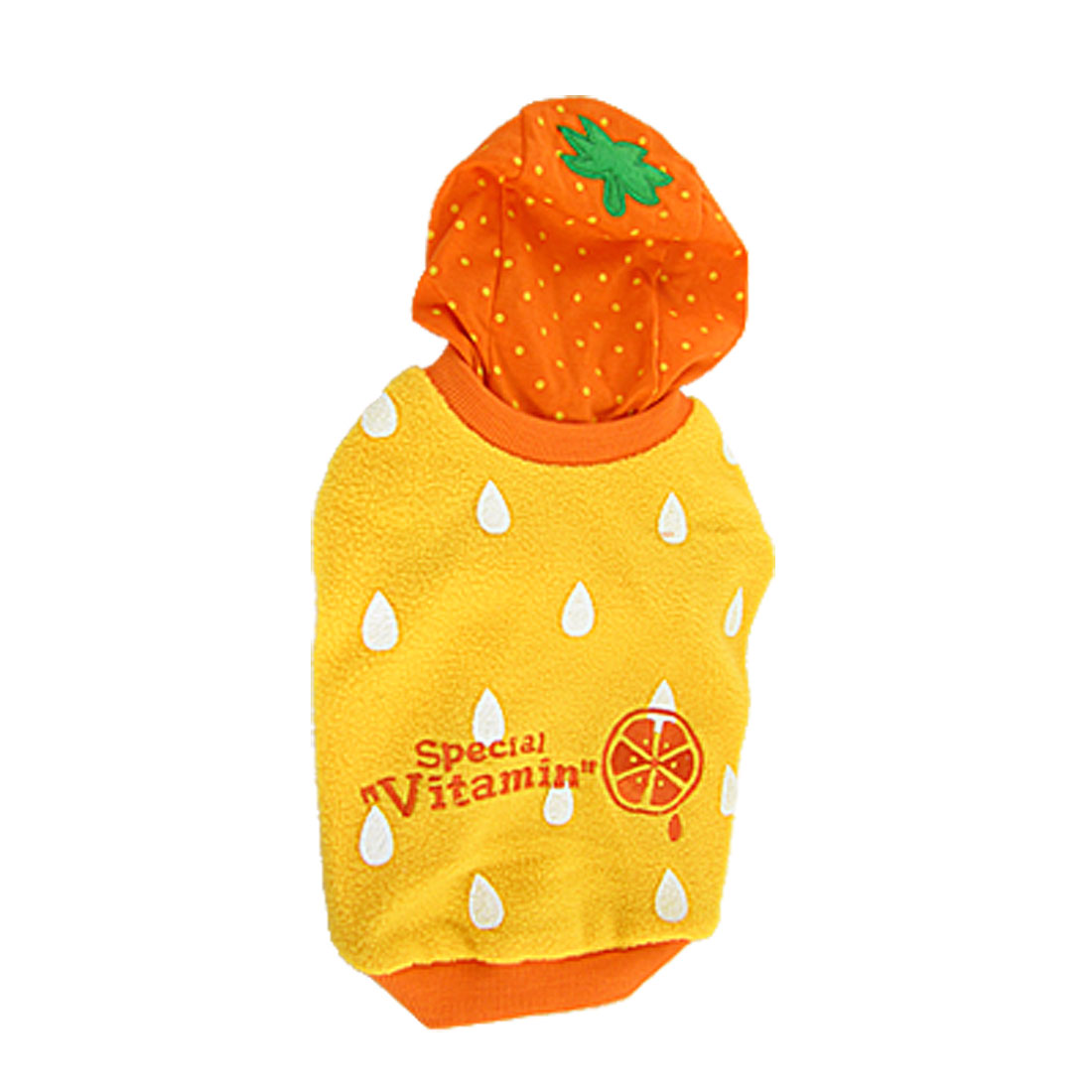 Size L Orange Winter Pet Dog Apparel Hoodies Coat Jacket Pullover Clothes