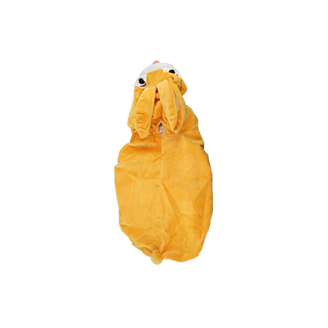 Lovely Yellow Rabbit Style Pet Puppy Dog Apparel Velvet Hood Coat Jumpsuit L