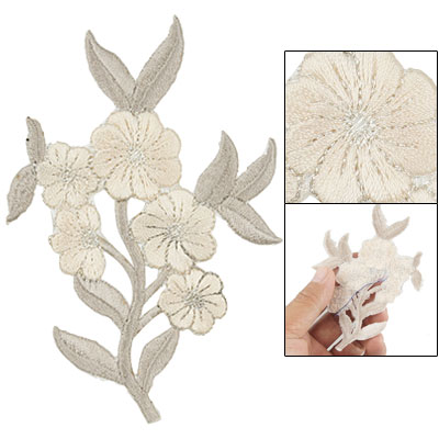 Floral Shaped Clothes Sew On Embroidered Patch Sticker