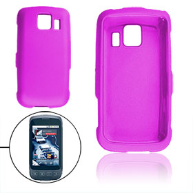 Fuchsia Rubberized Hard Plastic Case for LG LS670