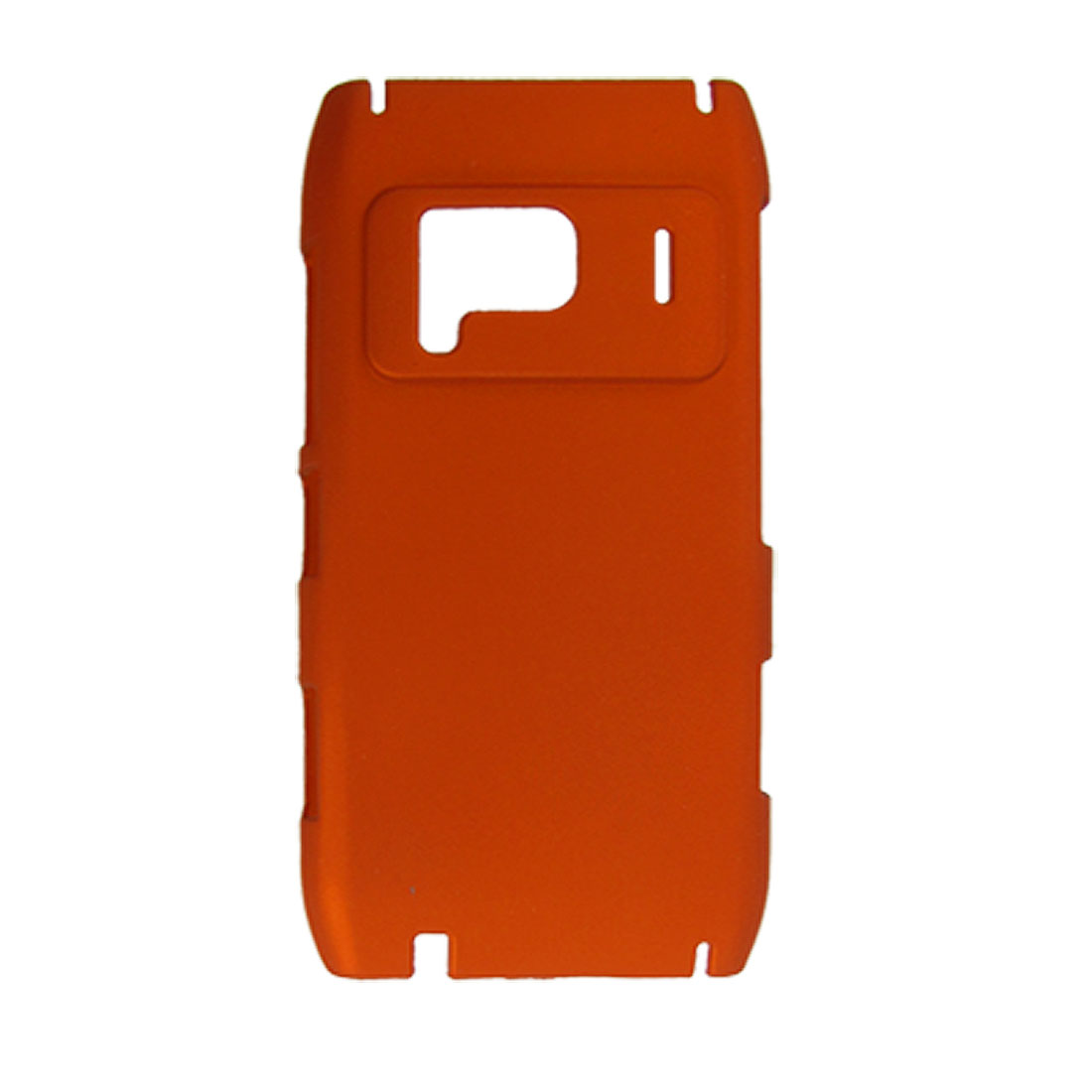 Orange-Red Rubberized Plastic Back Case for Nokia N8