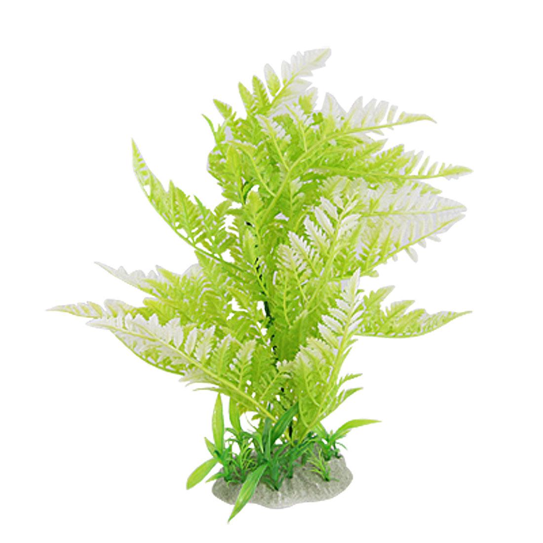Green Standing Plastic Plant Ornament Water Wonder for Aquarium