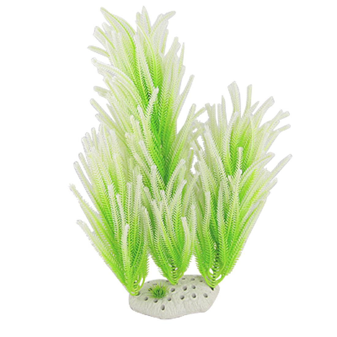 "Aquarium Water Wonder Decorative Plastic Plant Green 13"""