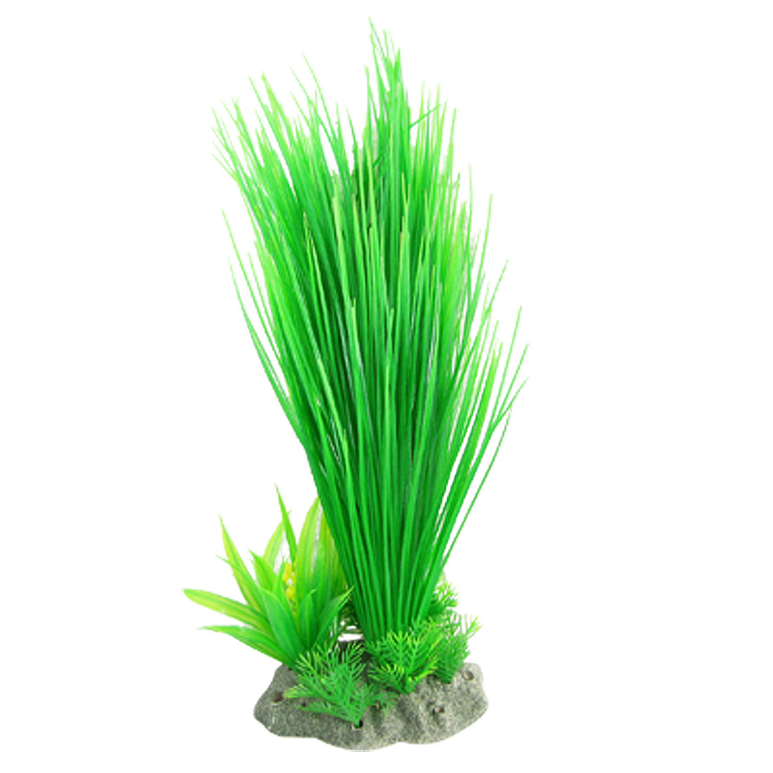 "Aquarium Decorative Standing Plastic Grass Green 12.5"""