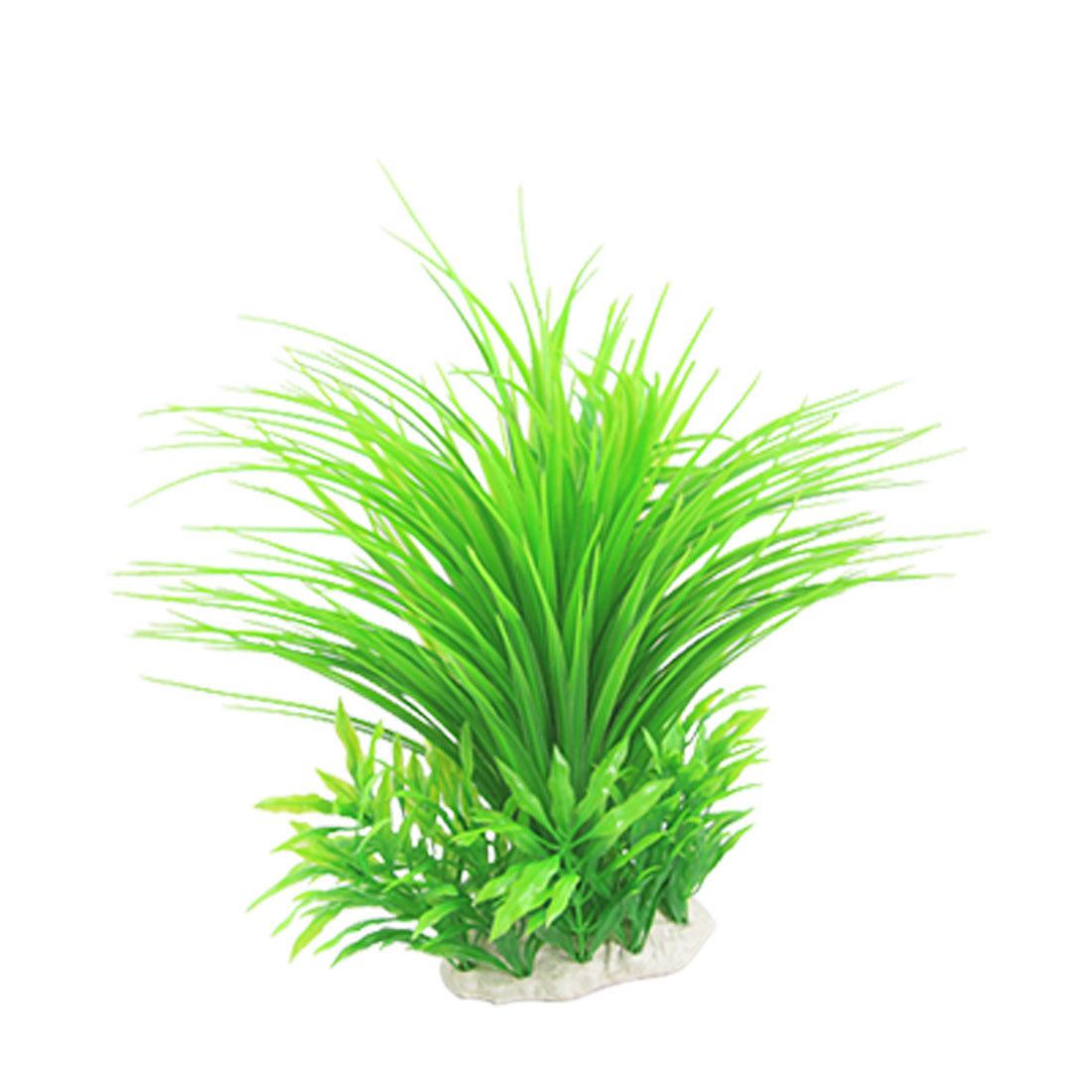"""Aquarium Green Water Plastic Grass Plant Ornament 11"""""""