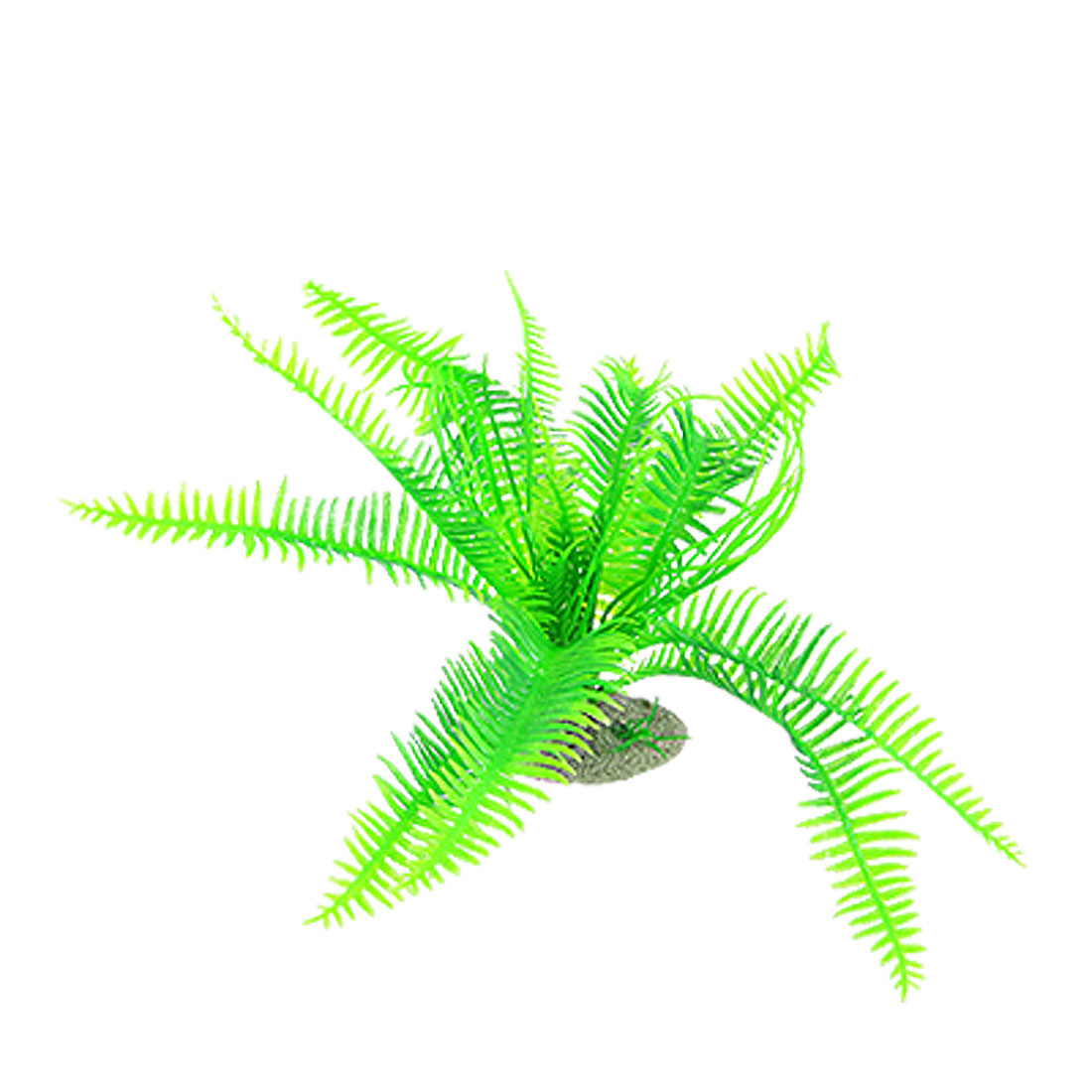 Green Plastic Pteris Fauriei Hieron Plants Decoration for Aquarium