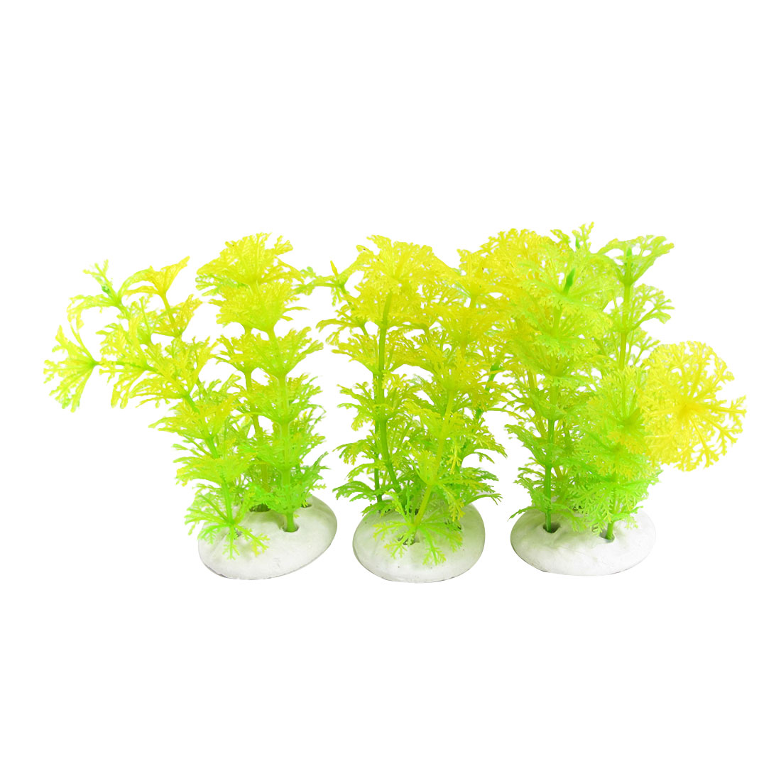 3PCS Lime Plastic Undweater Ornament Decor for Fish Tank