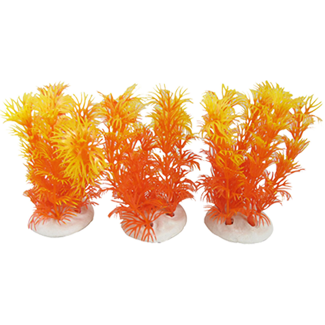 Fish Tank 3pcs Underwater Plastic Decoration Orange