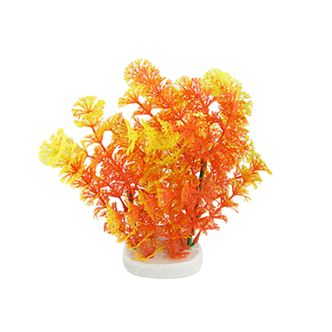 Orange Red Yellow Plastic Hottonia Inflata Plants Decoration for Aquarium