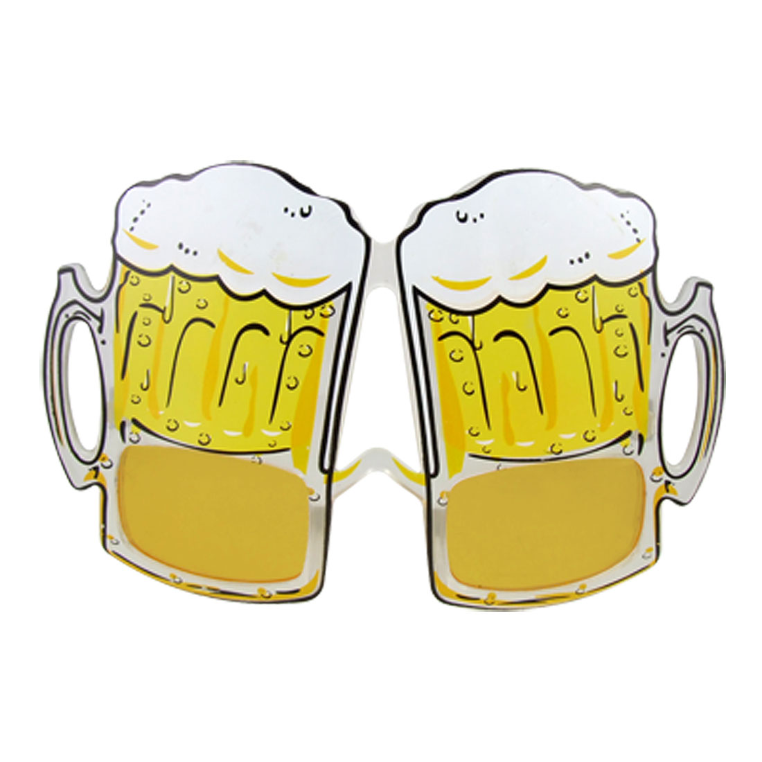 Clear Plastic Arm Beer Cup Shaped Lens Party Glasses
