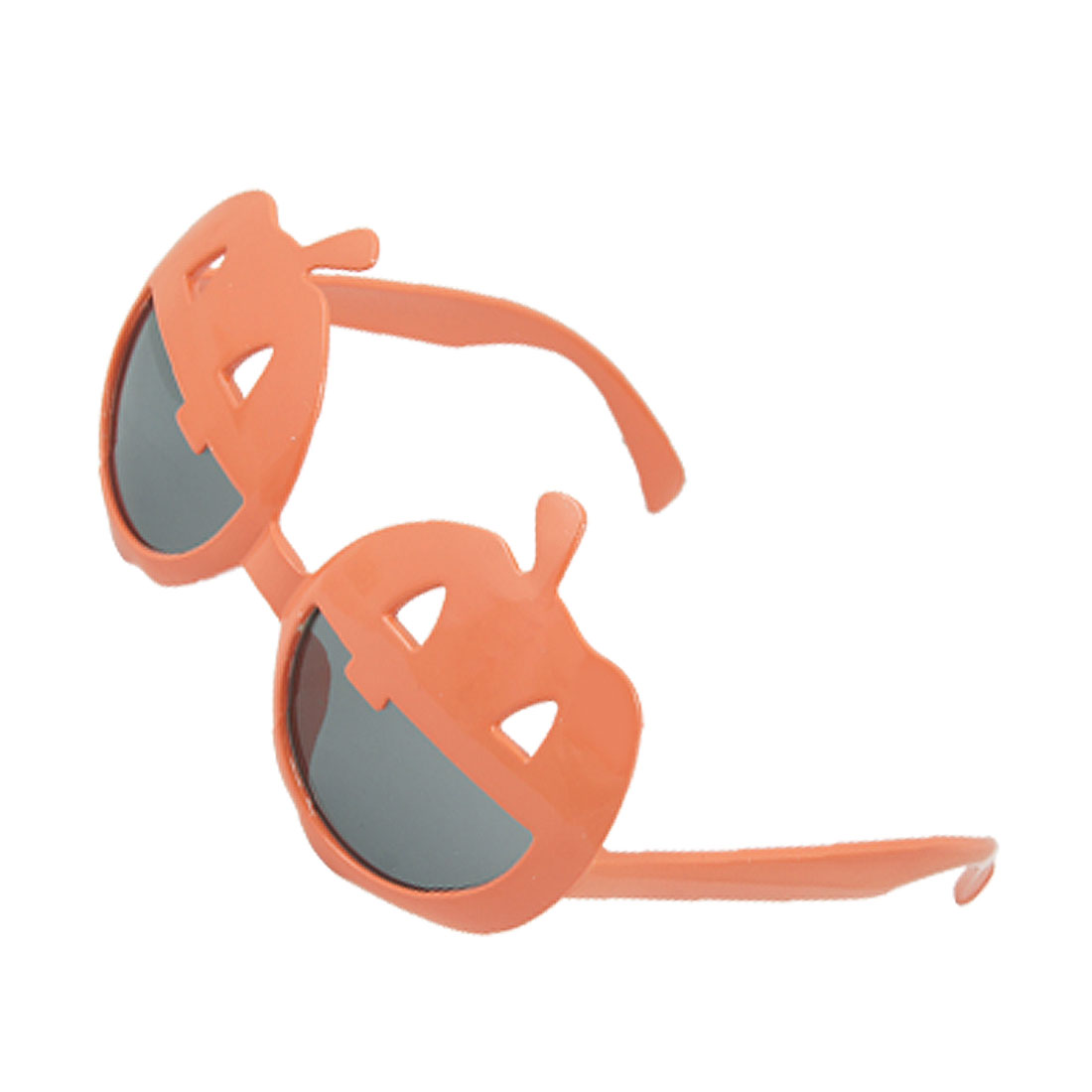 Orange Smiling Face Plastic Frame Party Glasses for Halloween