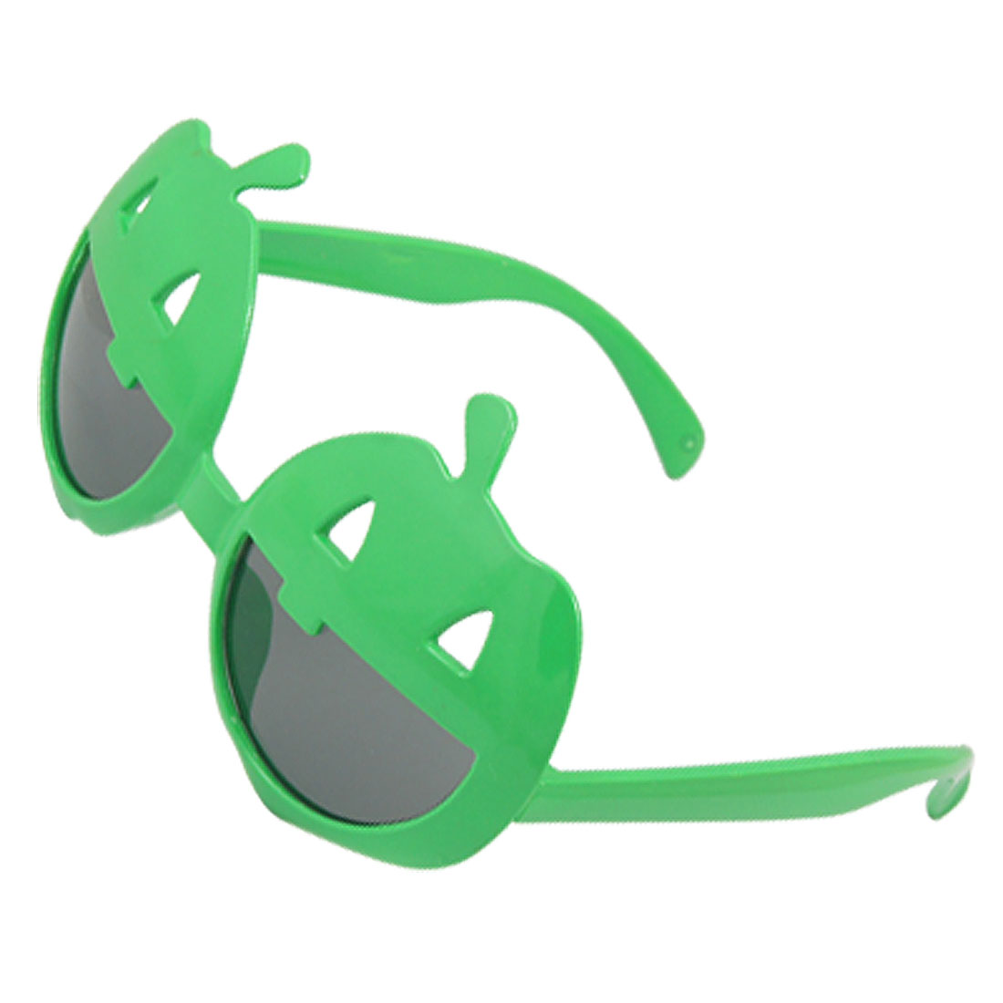 Smiling Face Plastic Frame Halloween Party Glasses Green