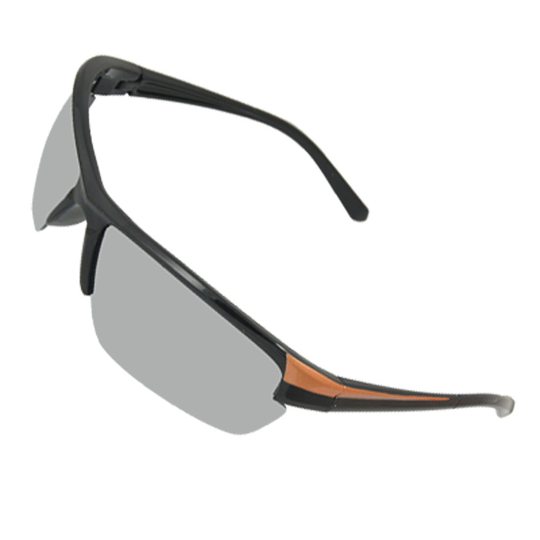 Rectangle Lens Black Orange Arms Sports Sunglasses