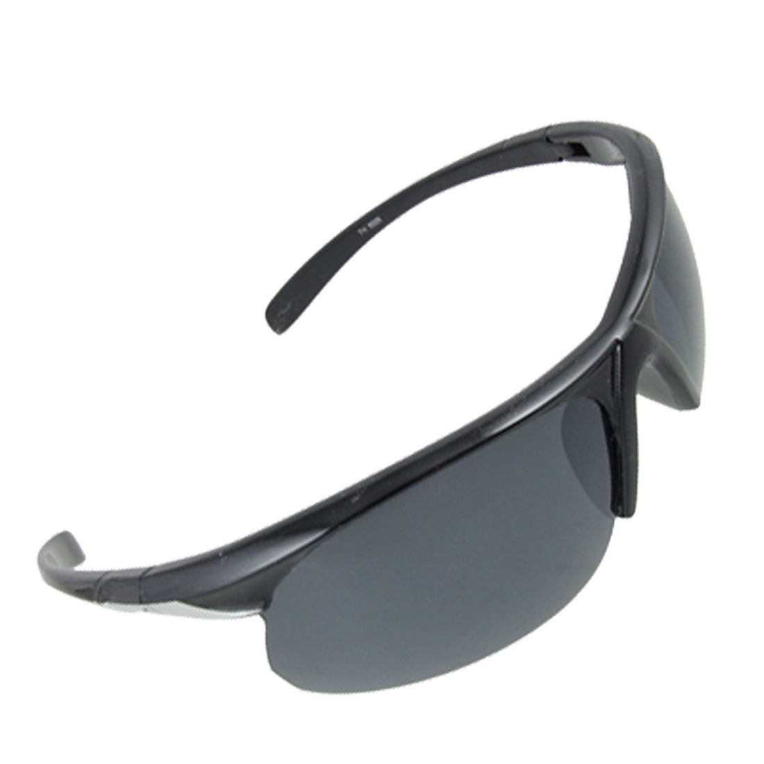 Silver Tone Detail Arm Semi Rim Skiing Beach Sports Sunglasses