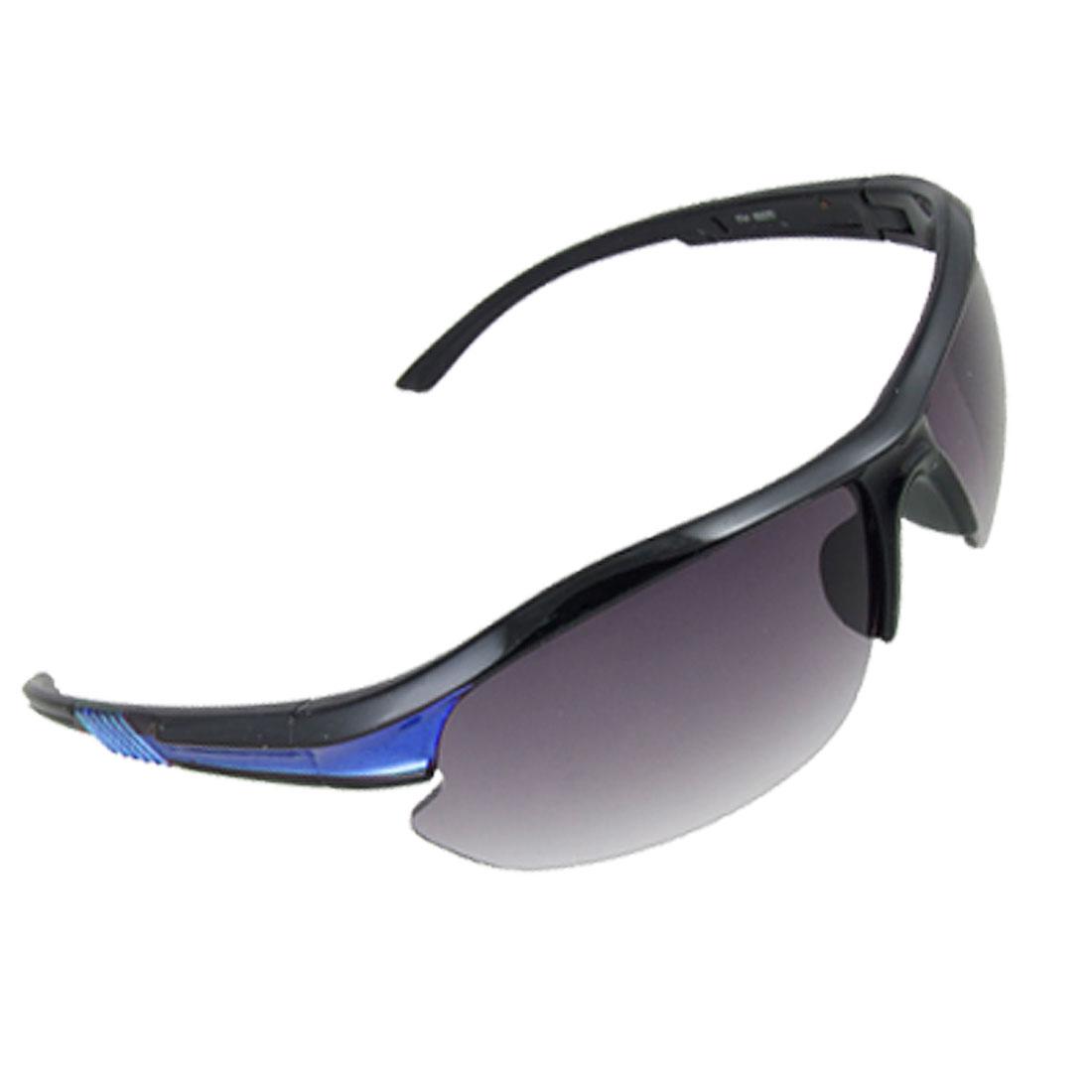 Rectangle Lens Blue Detail Arms Sports Sunglasses