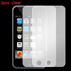 2Pcs Clear LCD Screen Guard Replacement for iPod Touch 2G 3G