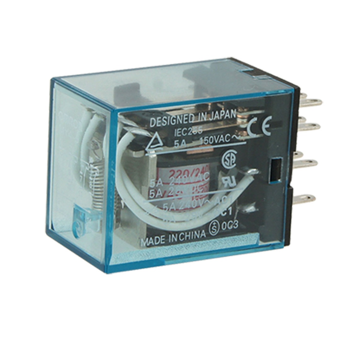AC 220V / 240V Coil 5A 14 Pin Electromagnetic Relay MY4J 4PDT