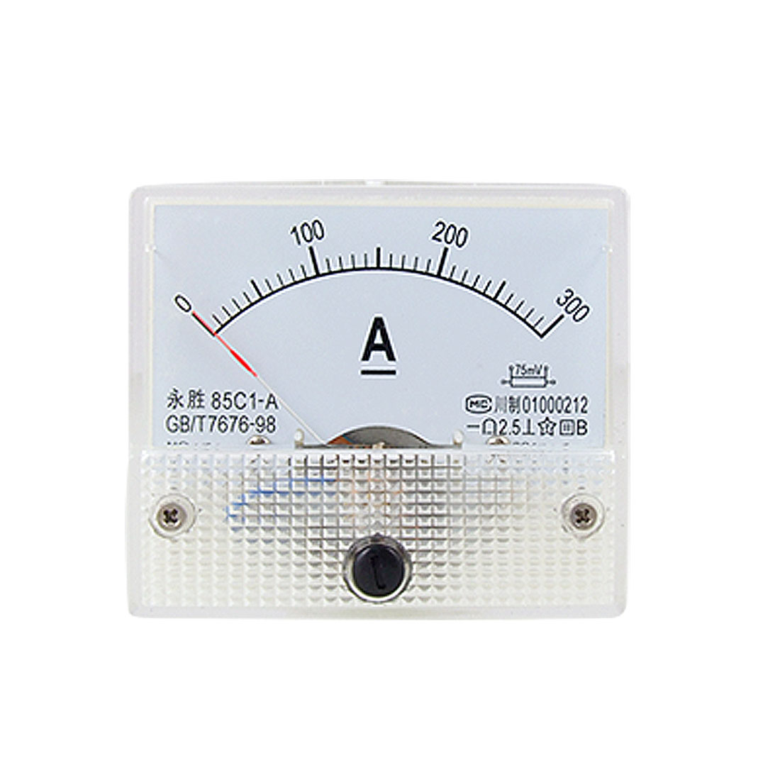 85C1 DC 0-300A Rectangle Analog Panel Ammeter Gauge