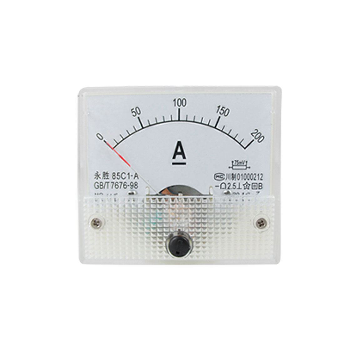 0-200A Ampere Needle Panel Meter Amperemeter 85C1-A