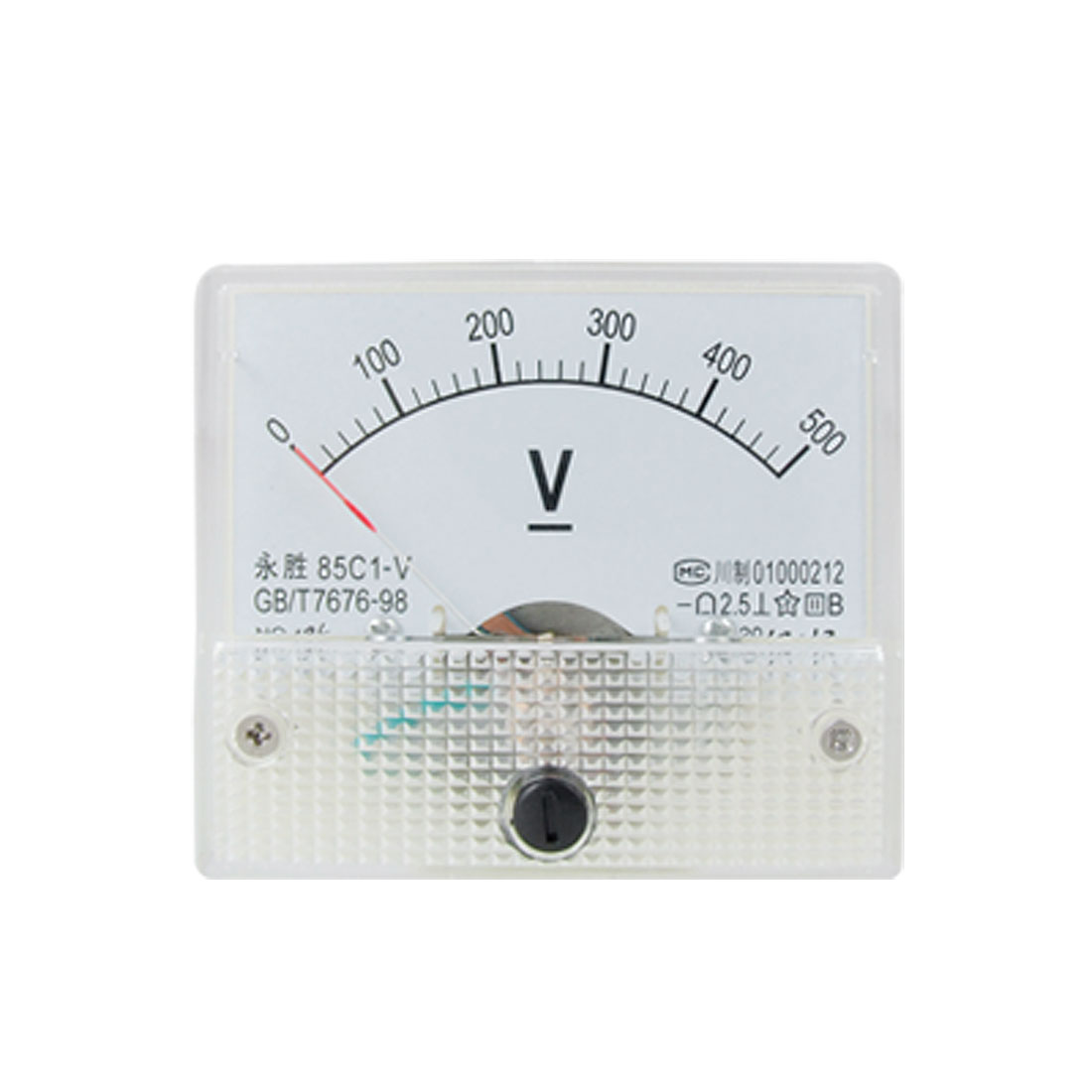 85C1-V DC 0-500V Analogue Needle Panel Meter Voltmeter