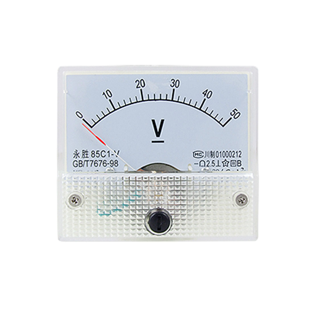 85C1 DC 0-50V Rectangle Analog Volt Panel Meter Gauge