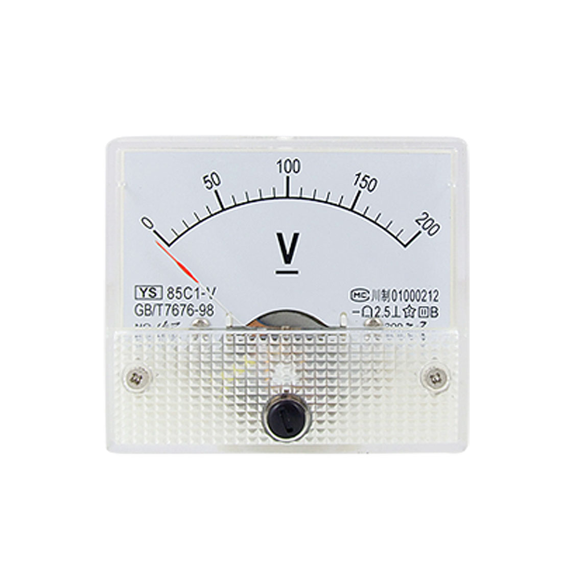 85C1 DC 0-200V Rectangle Analog Volt Panel Meter Gauge