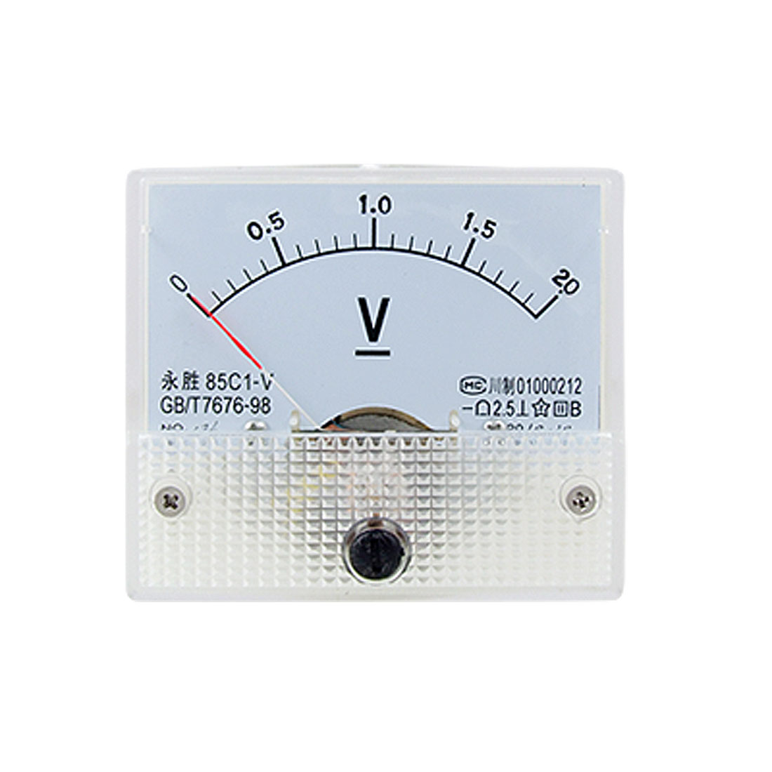85C1 DC 0-2.0V Rectangle Analog Volt Panel Meter Gauge