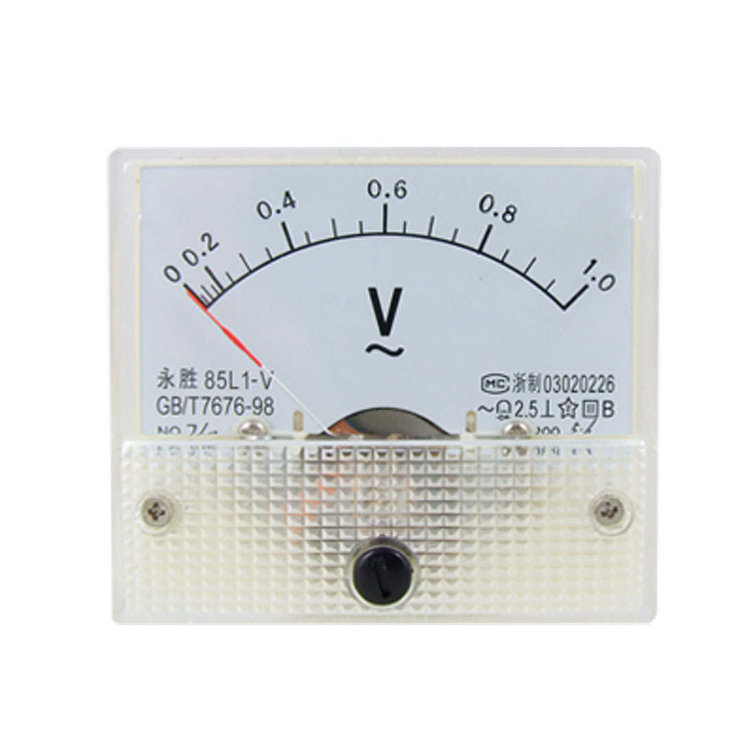 85L1 AC 0-1.0V Rectangle Analog Volt Panel Meter Gauge