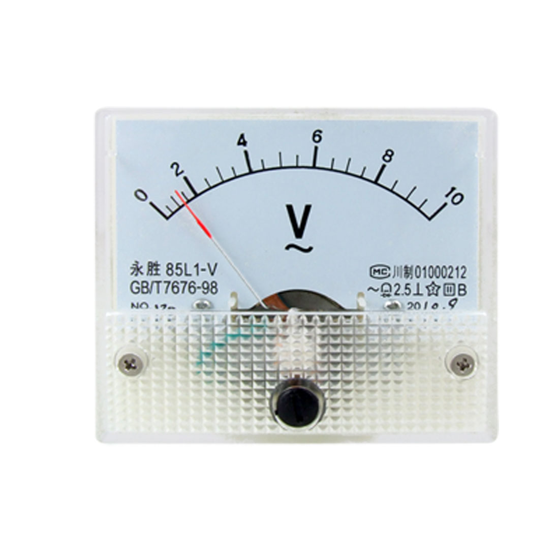 85L1 AC 0-10V Rectangle Analog Panel Volt Meter Gauge