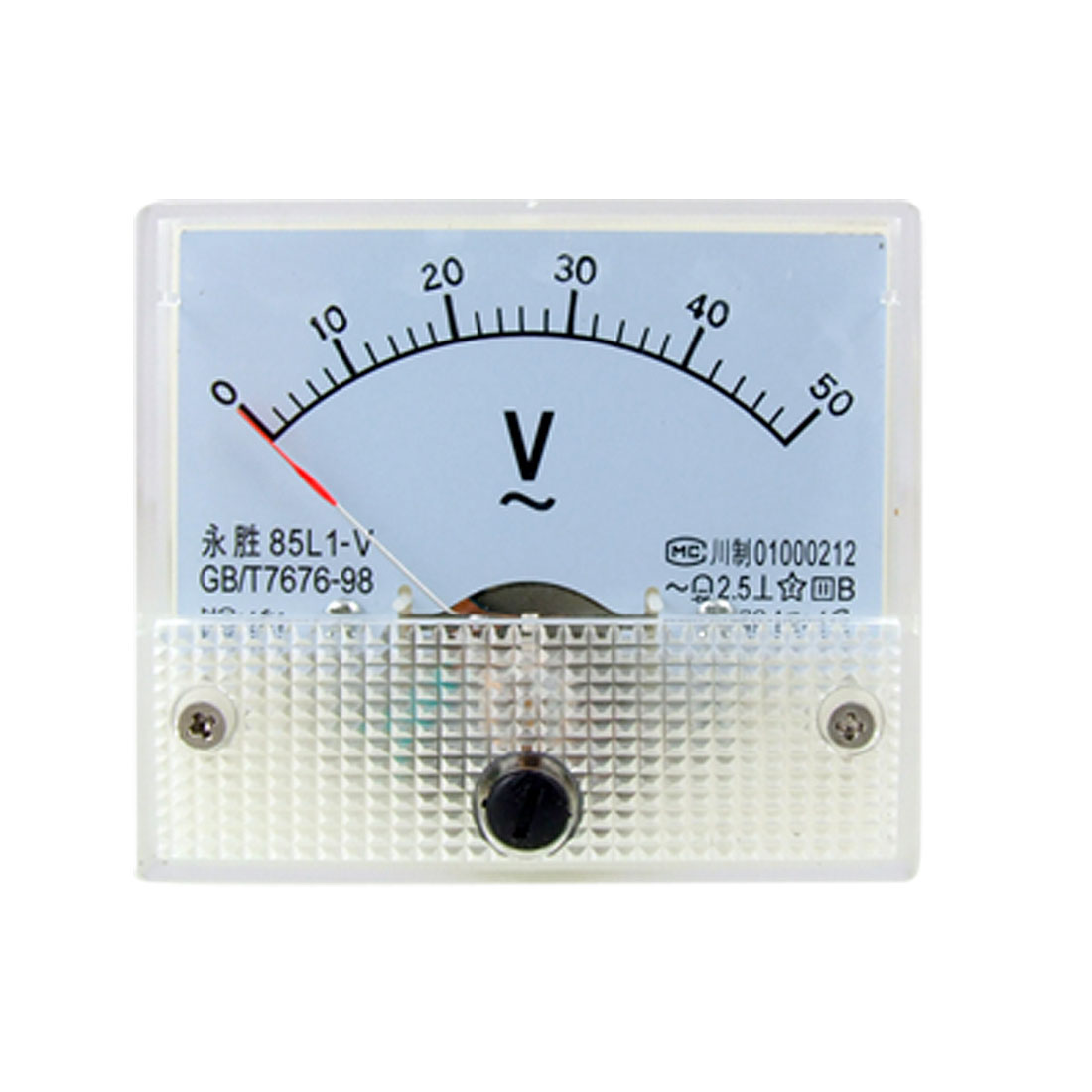 85L1 AC 0-50V Rectangle Analog Panel Volt Meter Gauge