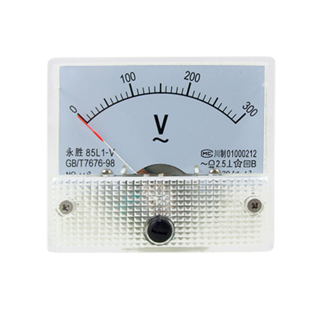 85L1 AC 0-300V Rectangle Analog Panel Voltage Gauge
