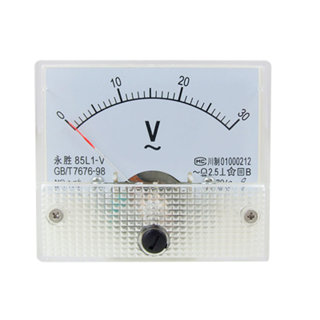 85L1 AC 0-30V Rectangle Analog Volt Panel Meter Gauge