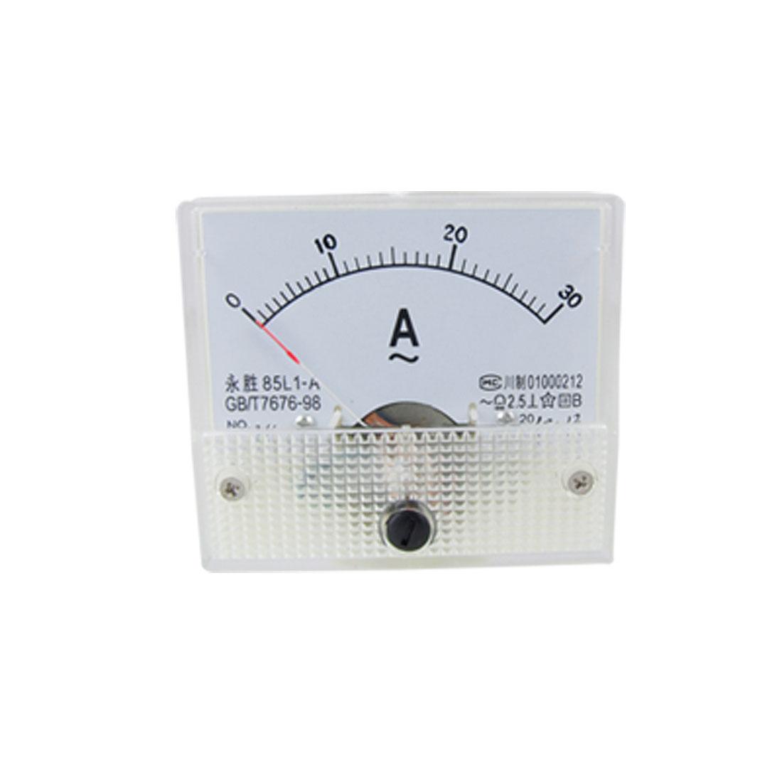 AC 1-30A Analog Amperemeter Panel Meter Gauge 85L1-A