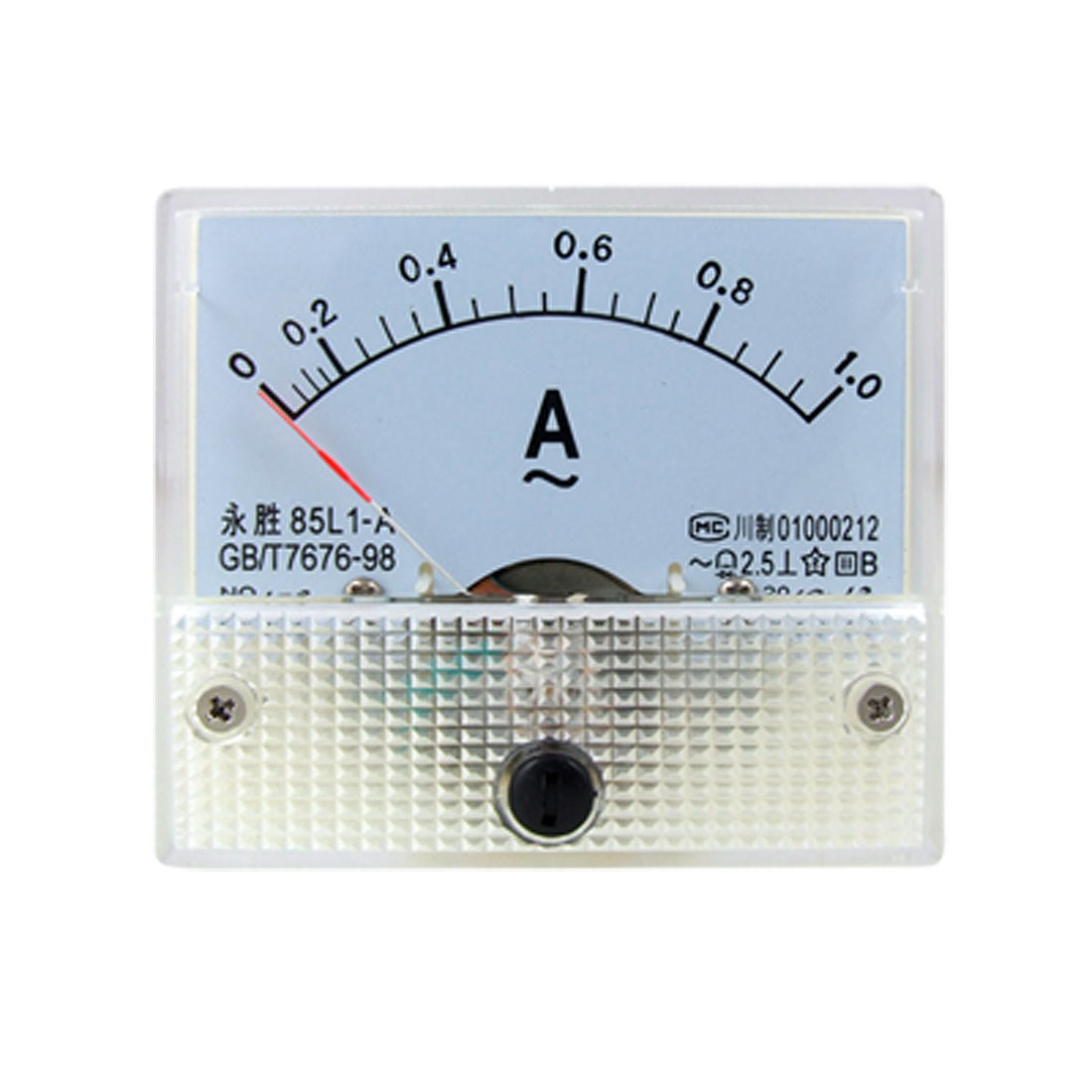 85L1 AC 0-1.0A Rectangle Analog Panel Ammeter Gauge