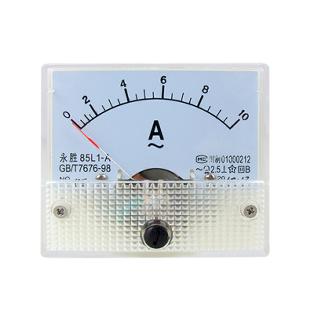 85L1 AC 0-10A Rectangle Analog Panel Ammeter Gauge